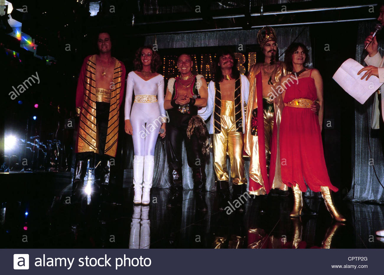 Genghis Khan Dschinghis German Pop Group Picture On Stage Wearing Costumes Early 1980s Leslie Mandoki Henrie