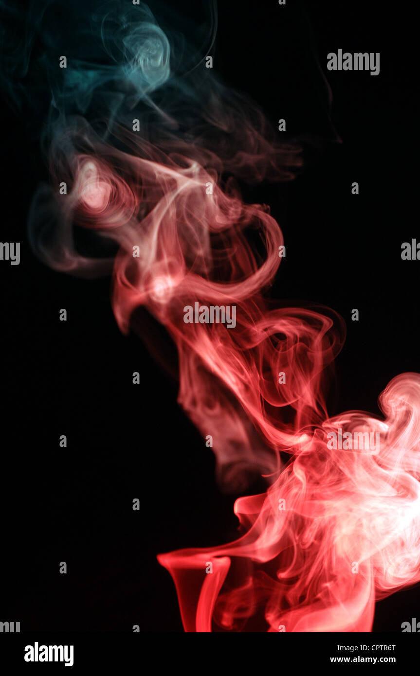 smoke, abstract, art, astronomy, astrophotography, background, beautiful, black, blue, bright, cloud, color, constellation, - Stock Image