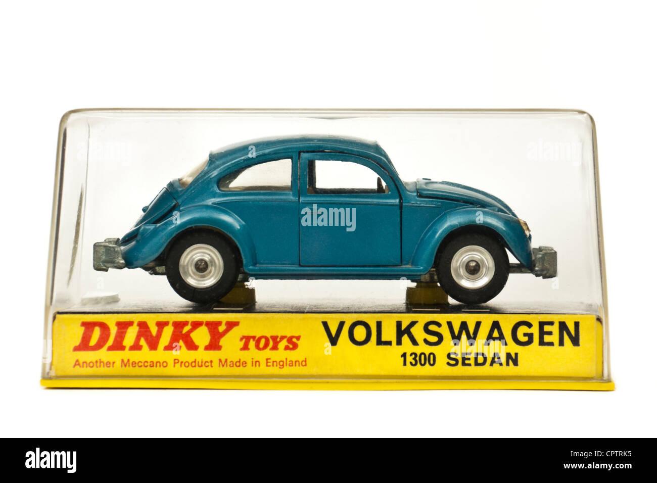 1960's vintage Dinky Toys No 129 Volkswagen Beetle 1300 Sedan diecast model  car in original packaging