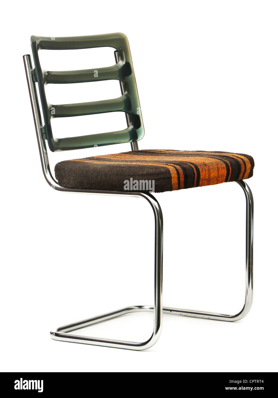 Vintage 1970's upholstered cantilever chair. This classic design was invented by Mart Stam in 1926. - Stock Image