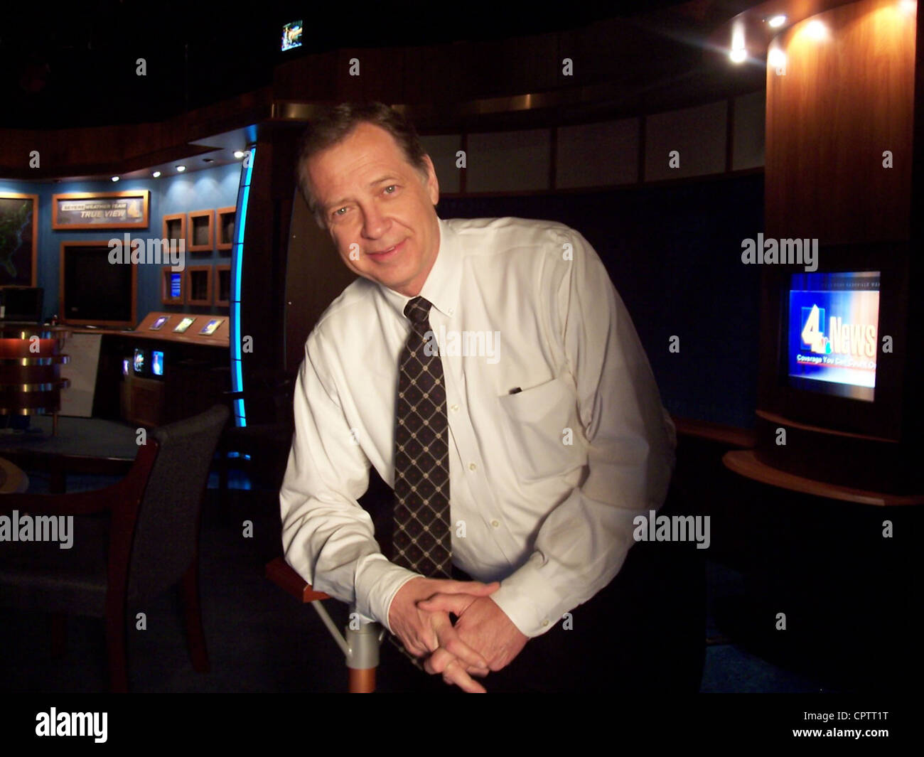 News personality Dan Miller, taken inside the WSMV-TV studios in Nashville, Tennessee. - Stock Image
