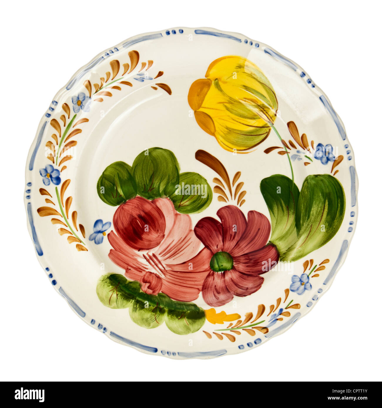 1950\u0027s \u0027Belle Fiore\u0027 Chanticleer / Solian ware hand painted dinner plate by Simpsons Pottery  sc 1 st  Alamy & Hand Painted Plate Stock Photos \u0026 Hand Painted Plate Stock Images ...