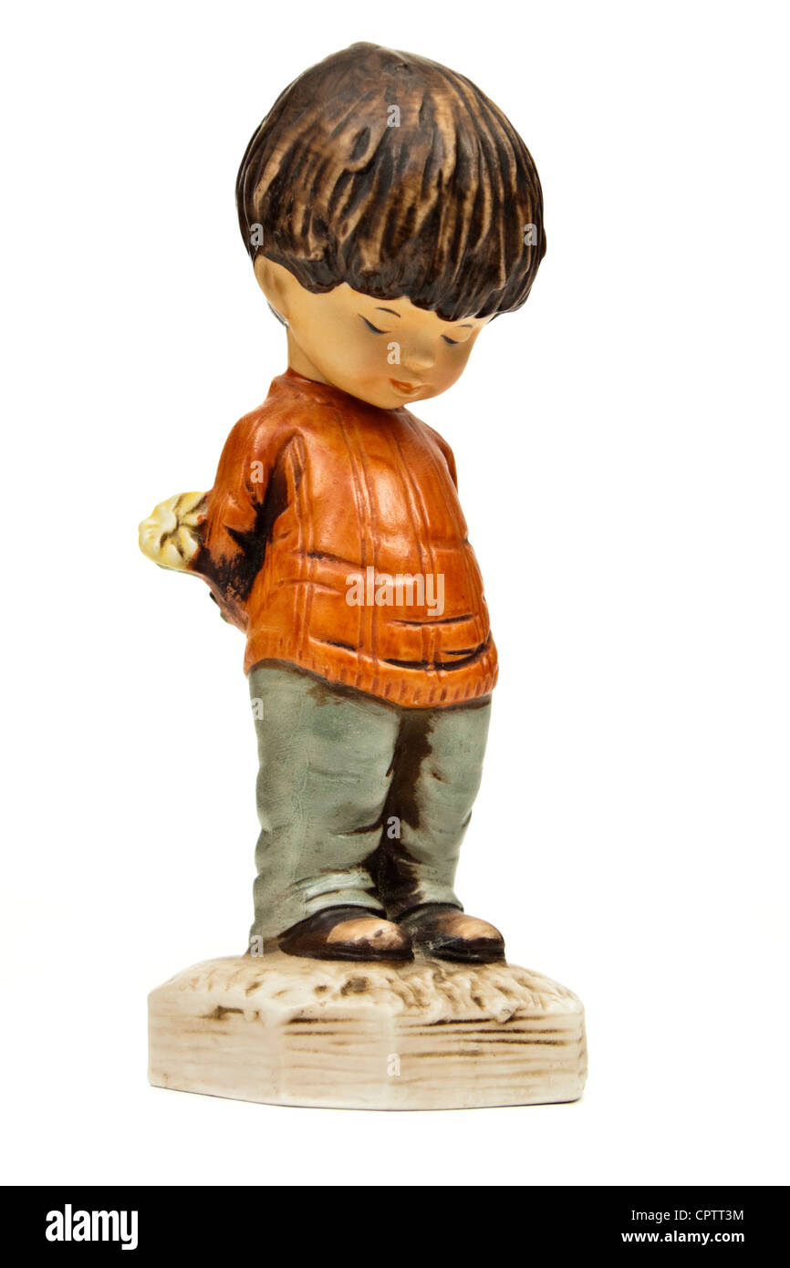 Vintage early 1970's 'Moppets' figurine by Fran Mar - Stock Image