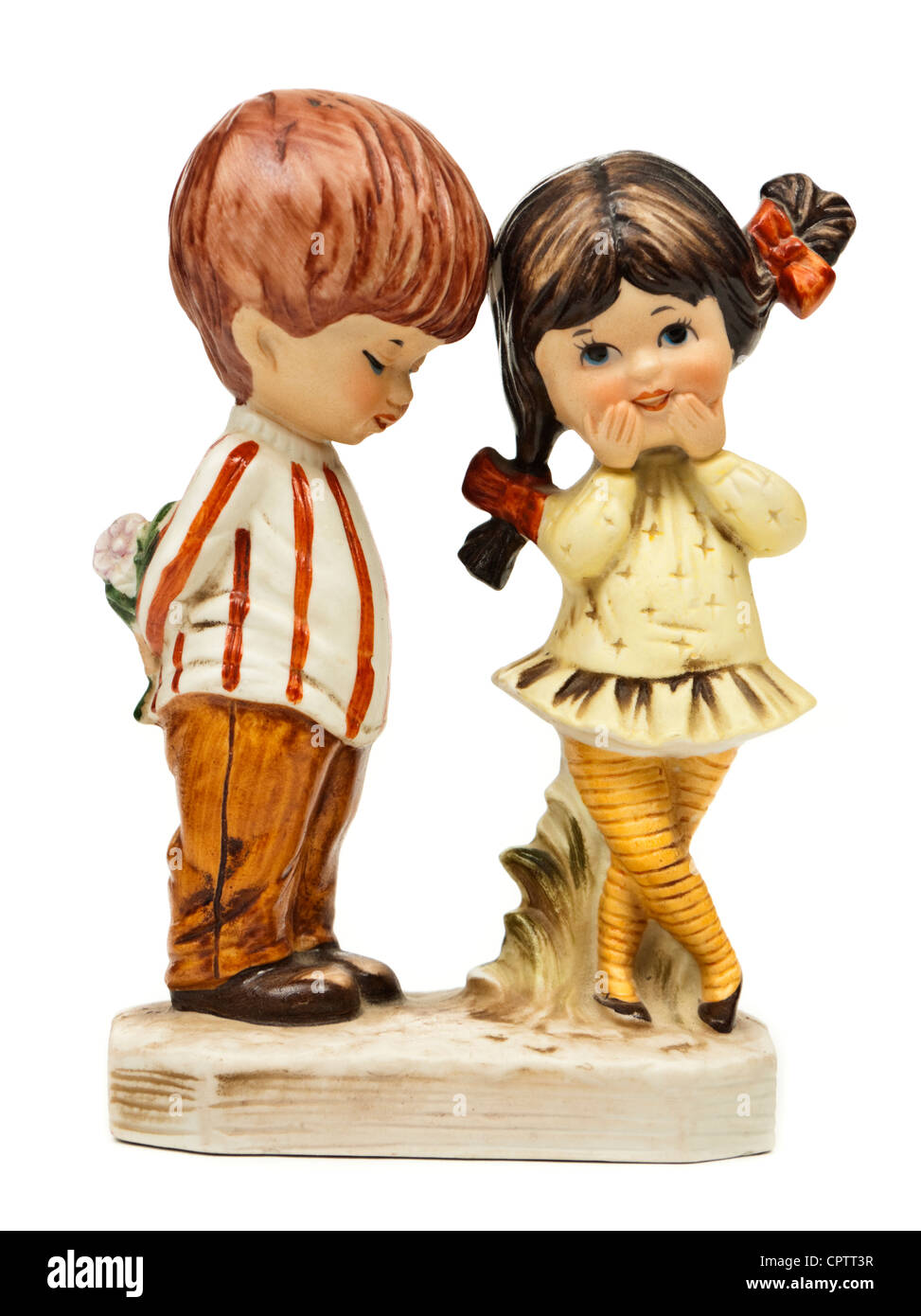 Vintage early 1970's 'Moppets' boy and girl figurine by Fran Mar - Stock Image