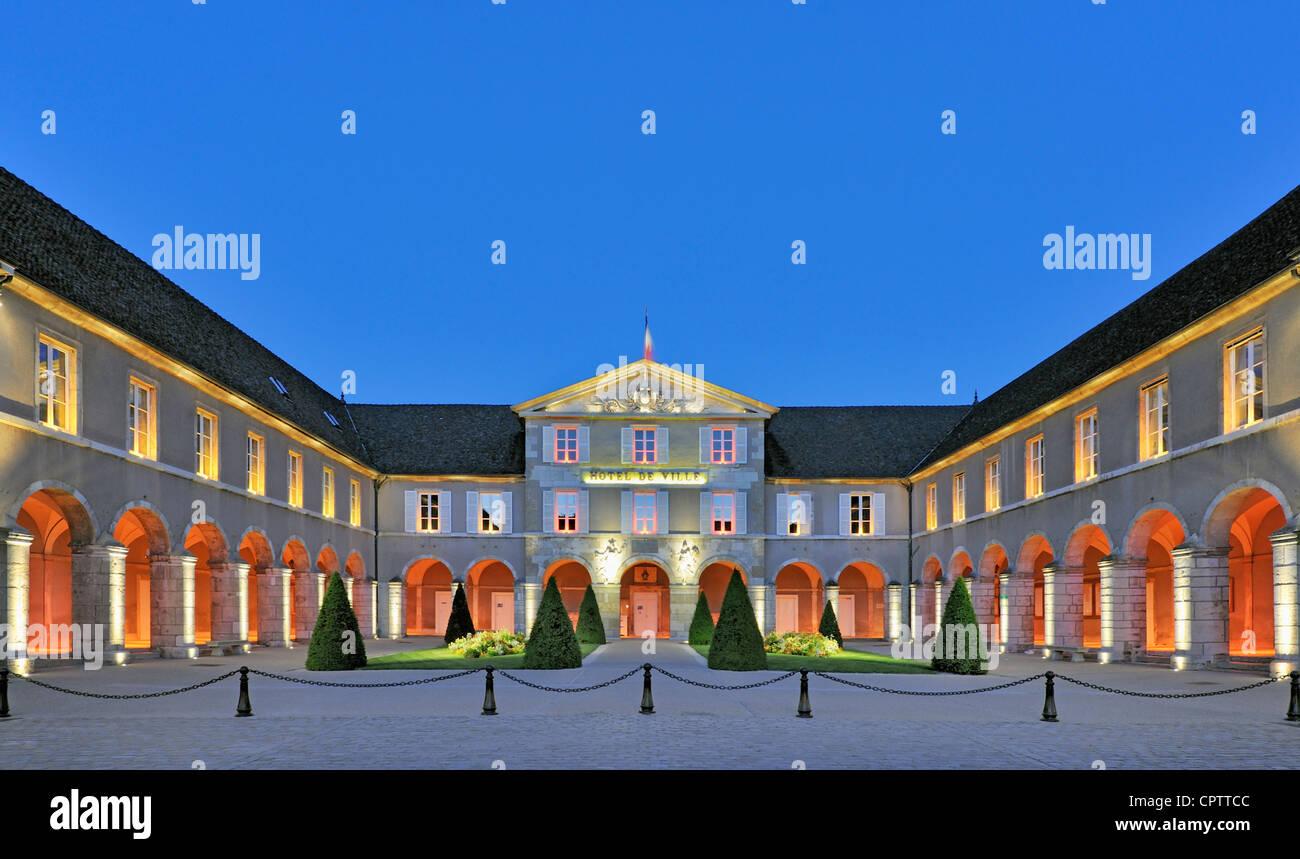 Hotel de Ville, Beaune, France at twilight - Stock Image