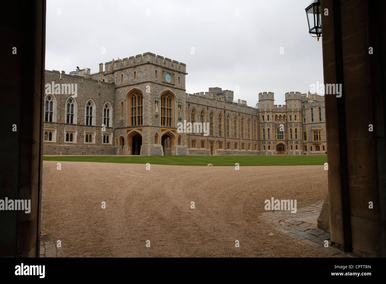 Windsor castle - The Upper Ward State Apartments - Stock Image