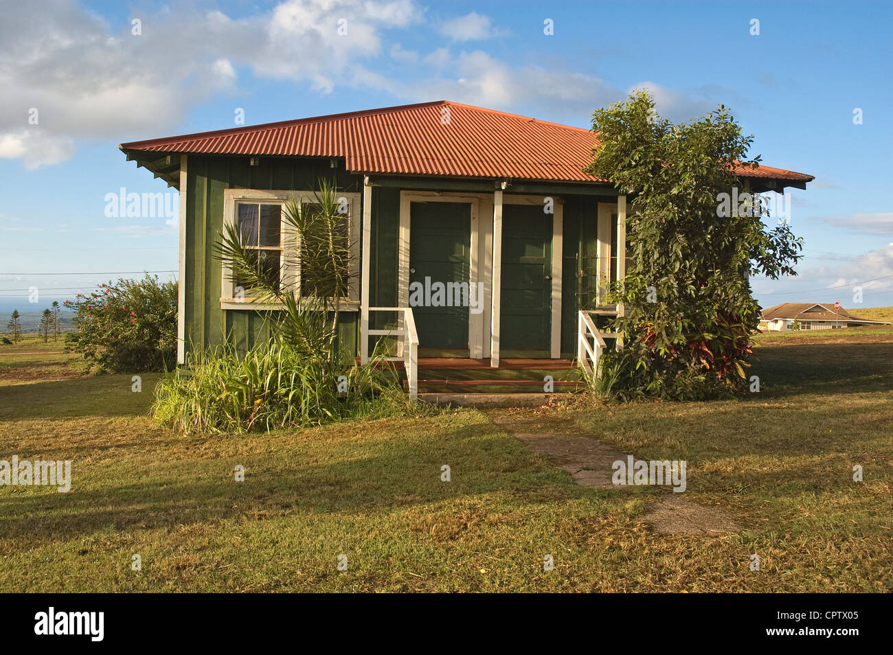 Hawaii, Molokai, West Molokai, Maunaloa, house - Stock Image