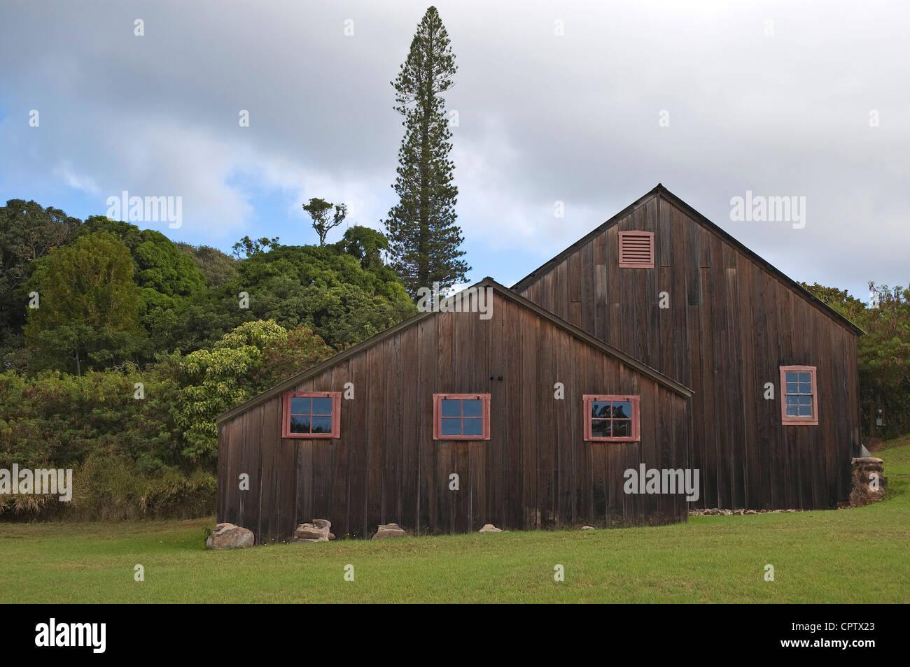 Elk284-6238 Hawaii, Molokai, RW Meyer Sugar Mill Museum - Stock Image