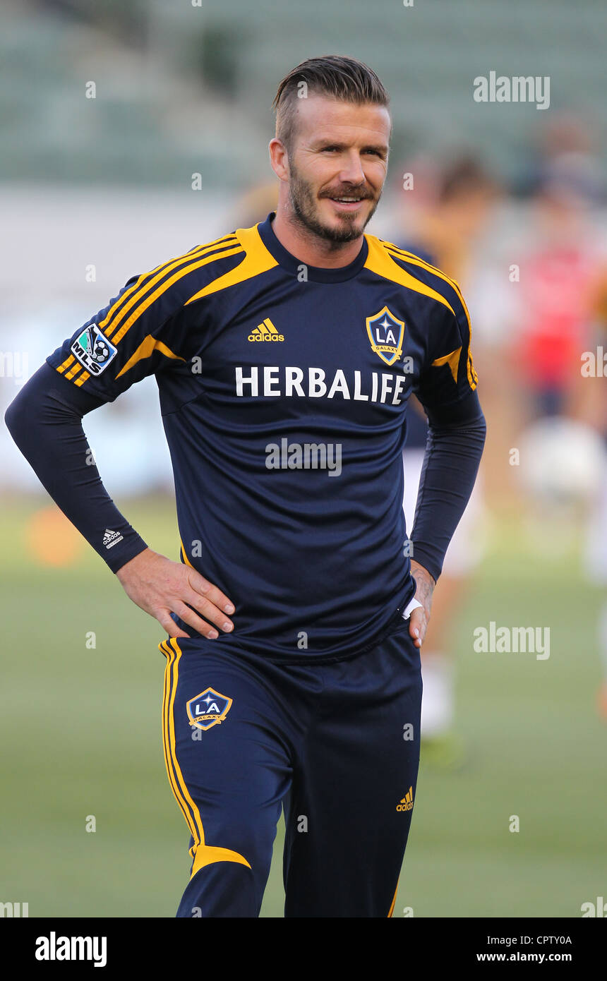David Beckham playing with the LA Galaxy - Stock Image