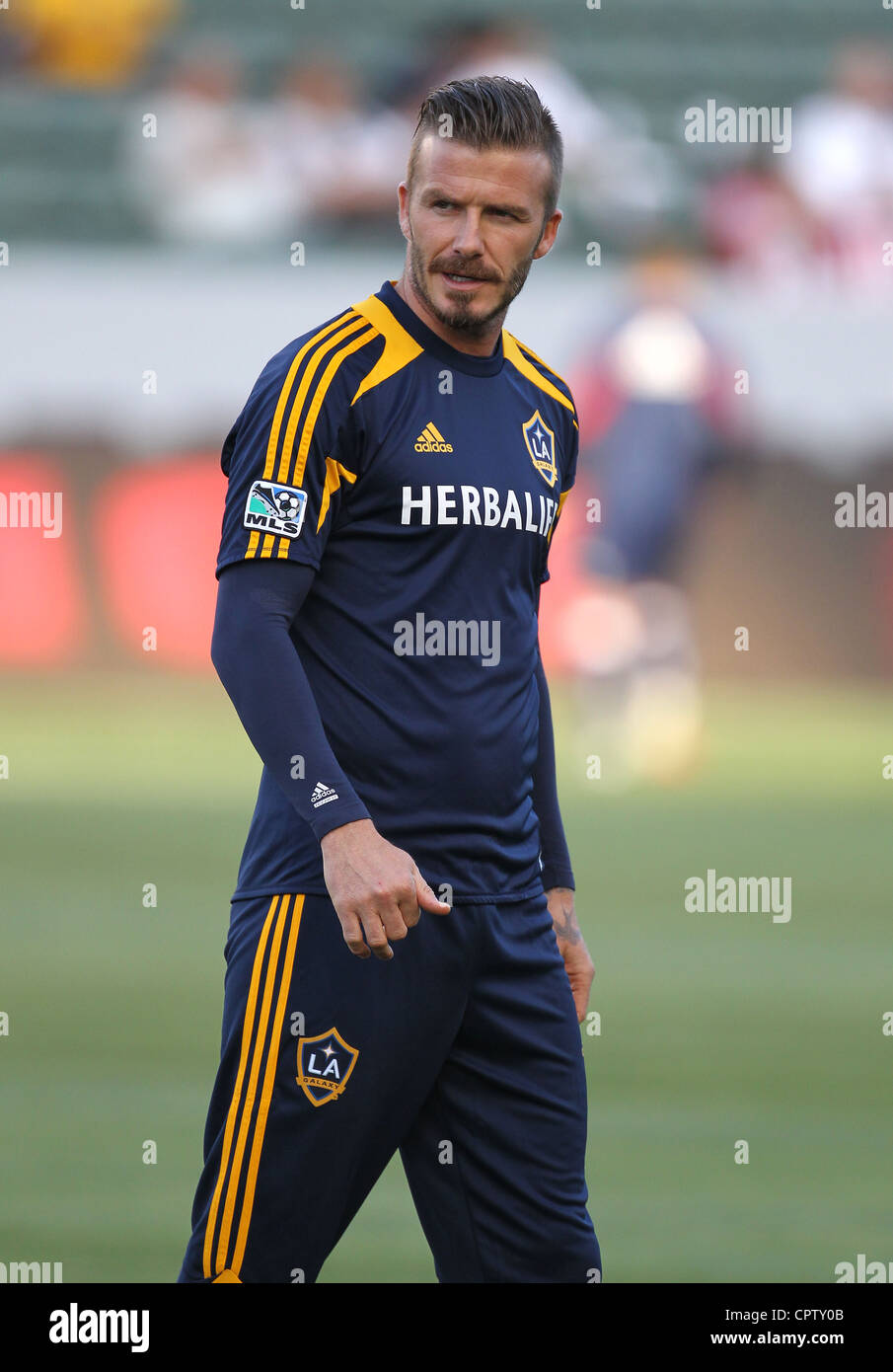David Beckham playing for the LA Galaxy - Stock Image