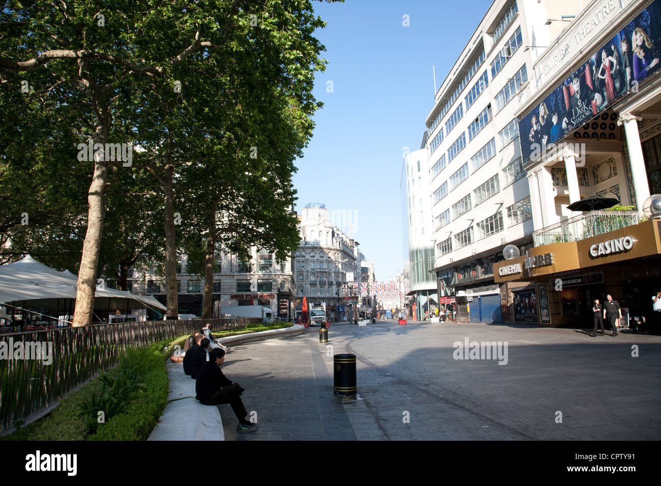 The new look Leicester Square London - Stock Image