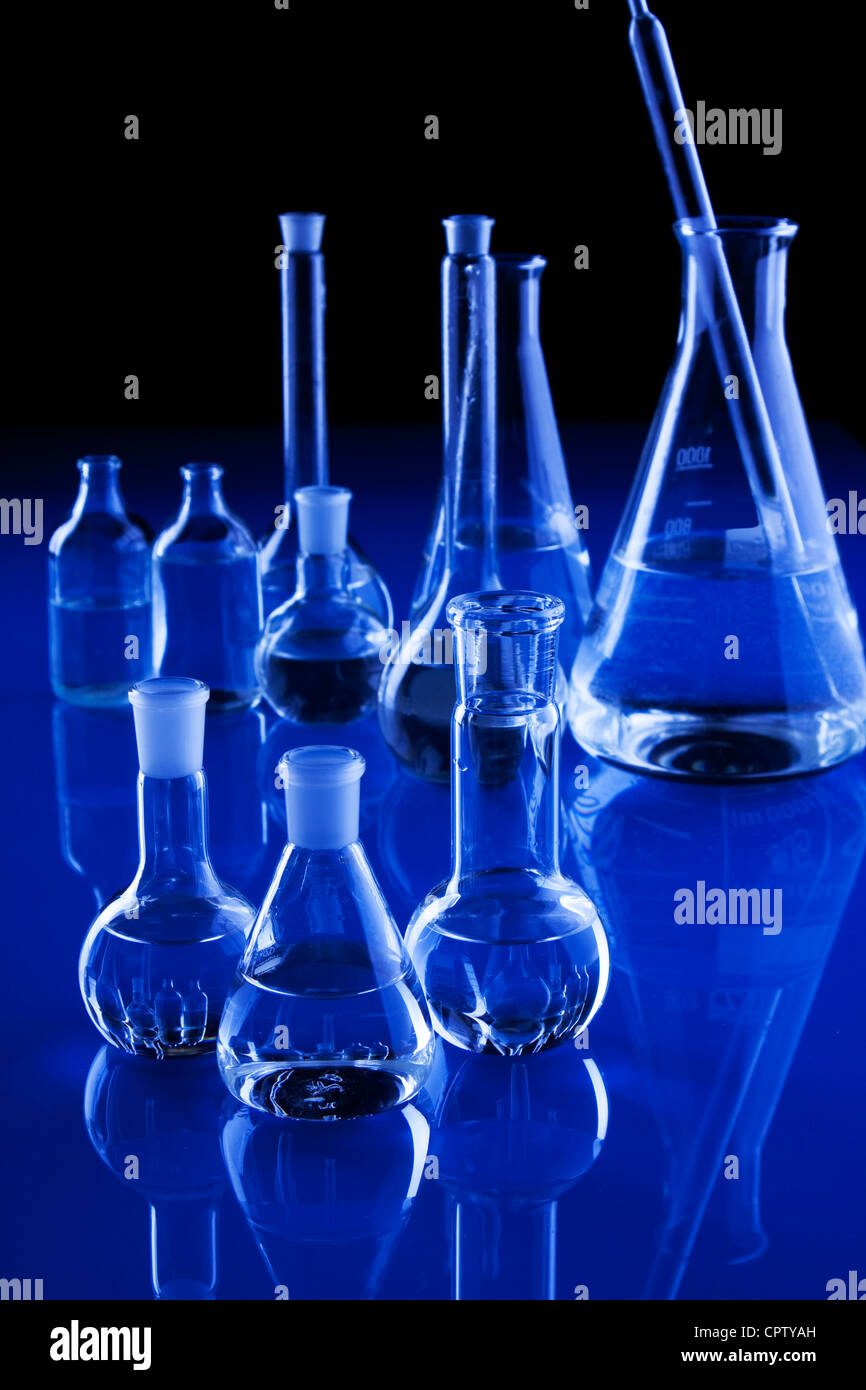 Laboratory glassware - Stock Image