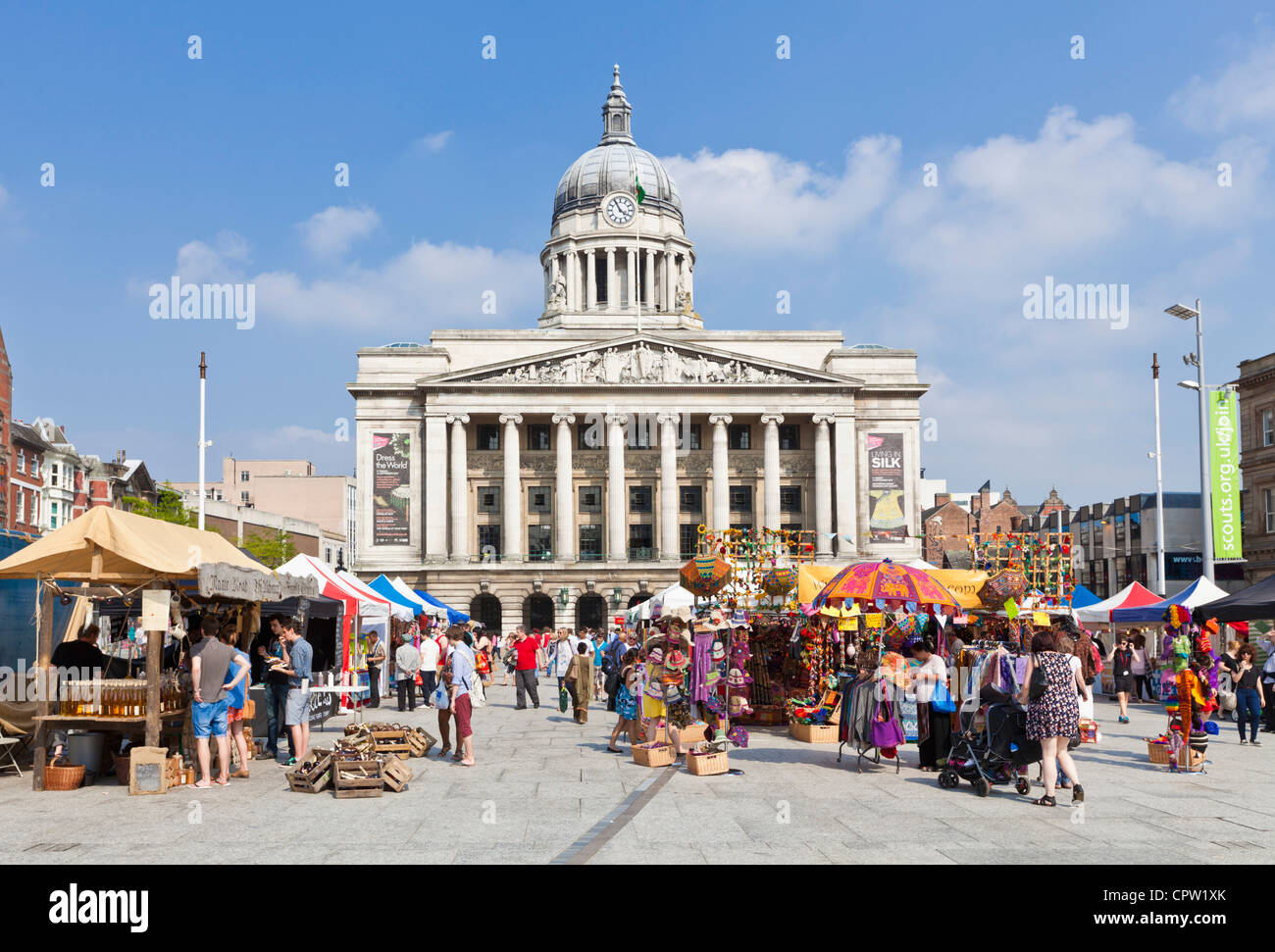 Council House in Old Market Square Nottingham Nottinghamshire England GB UK Europe - Stock Image