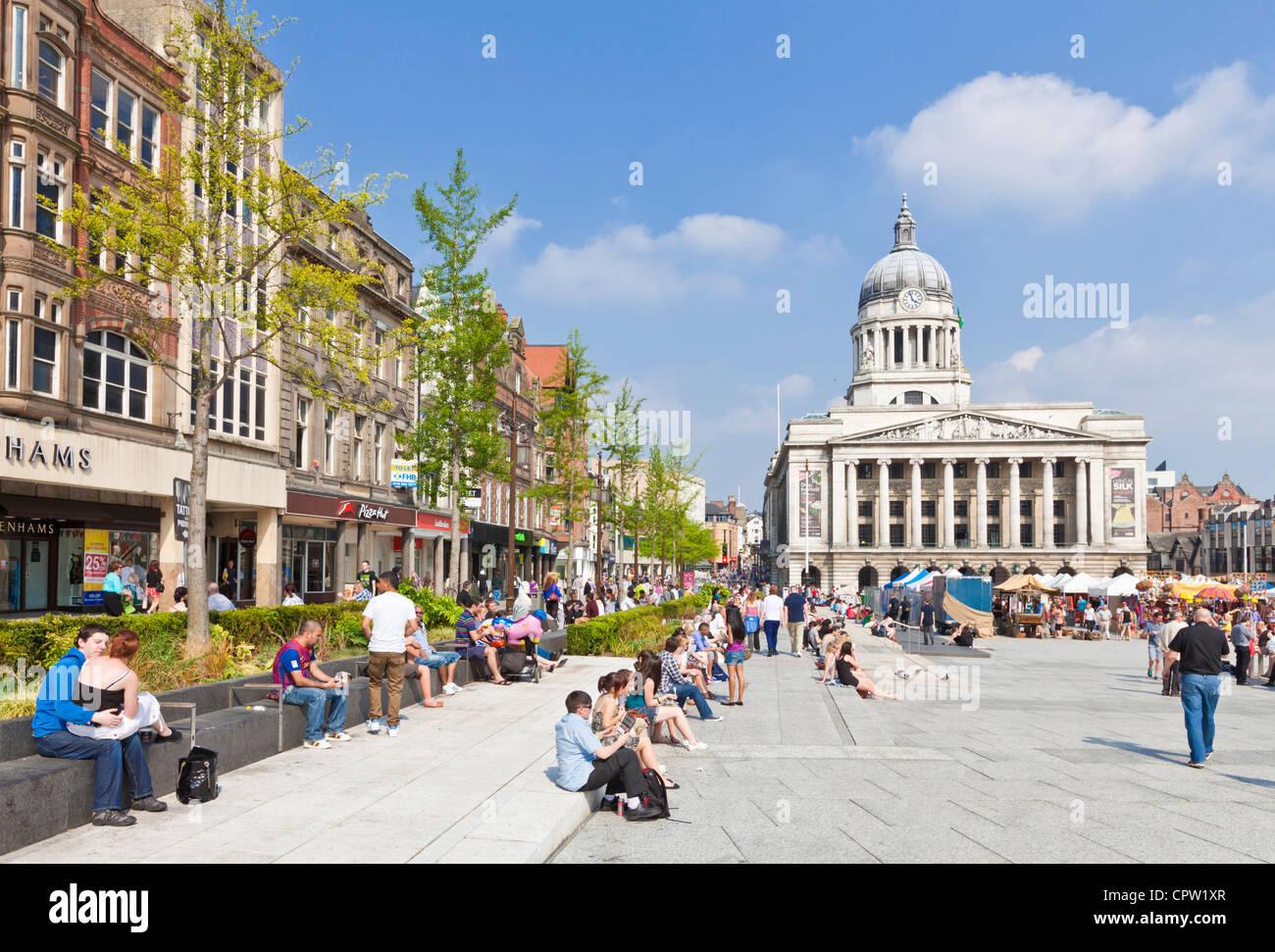 Council House in old Nottingham Market Square Nottingham city centre Nottinghamshire England GB UK Europe - Stock Image