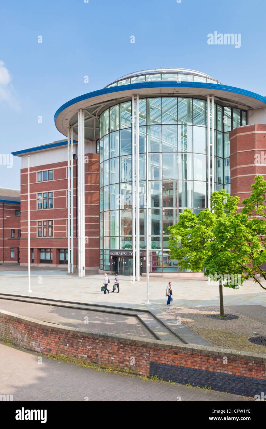 nottingham magistrates court city centre Nottinghamshire England UK GB EU Europe - Stock Image