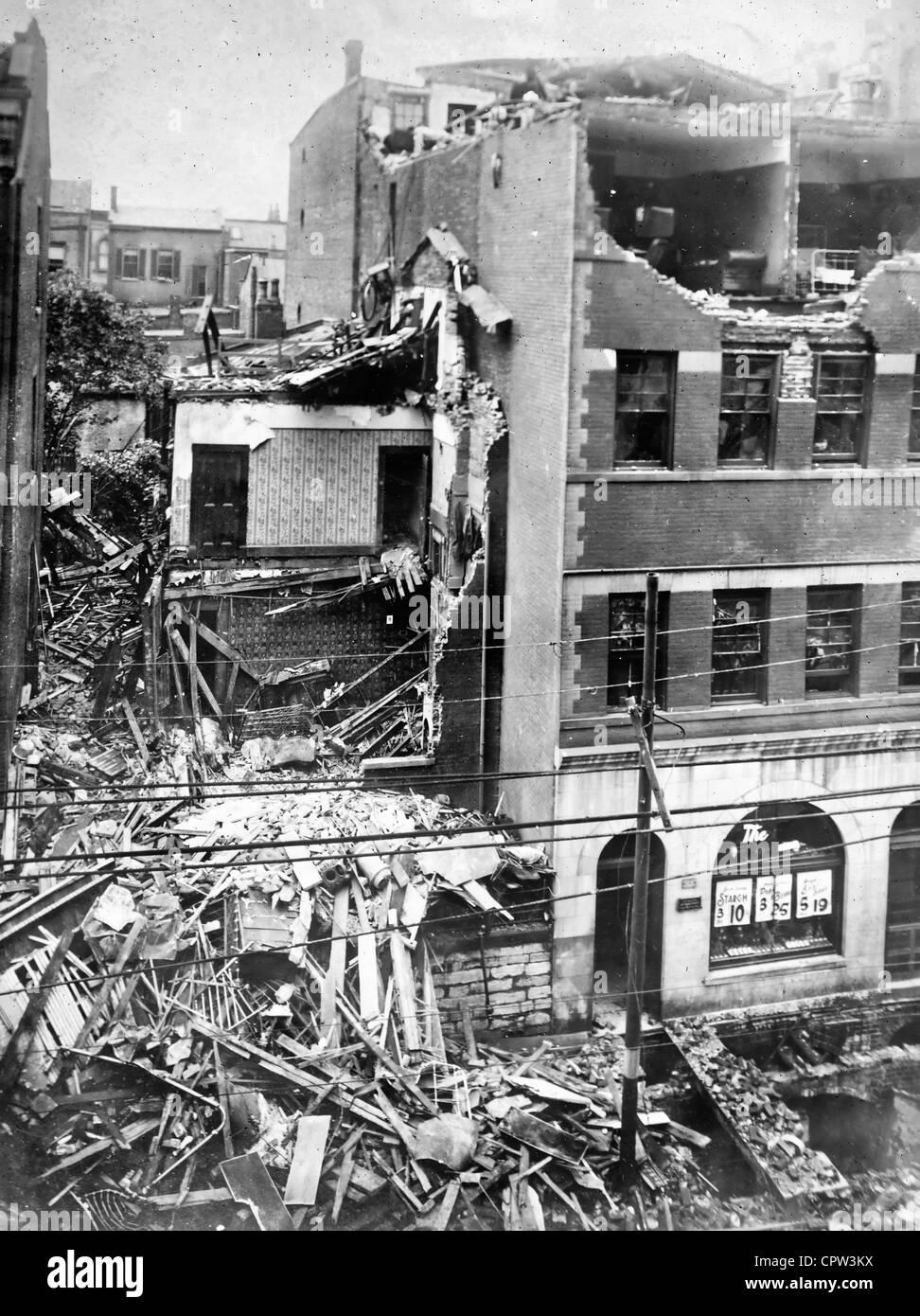 Cincinnati Tornado aftermath - July 1915 - Stock Image