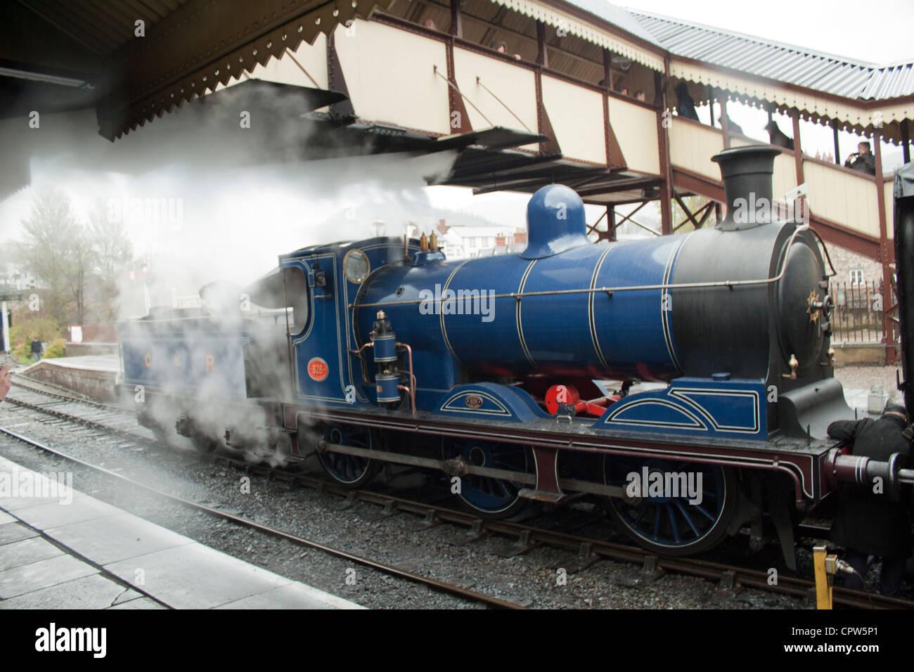 Britannia Steam Loco Llangollen Station Steam Festival 2012 Stock Photo