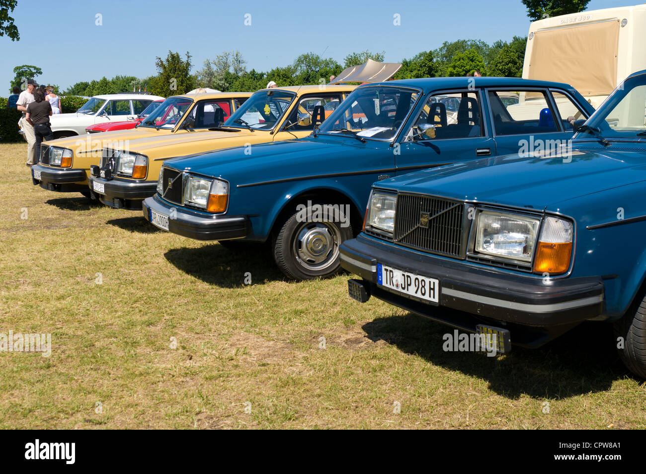 Various modifications of cars Volvo 240 Stock Photo