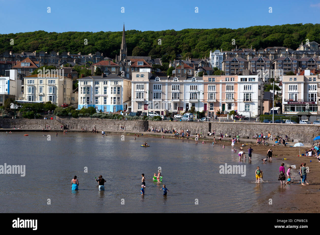 Seafront at Weston Super Mare - Stock Image
