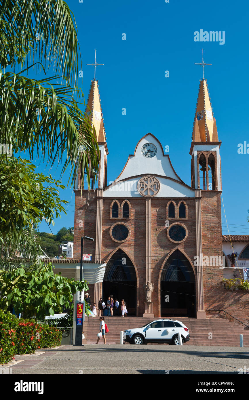 Mexico, Puerto Vallarta. Iglesio del Rexugio, Puerto Vallarta, Mexico. - Stock Image