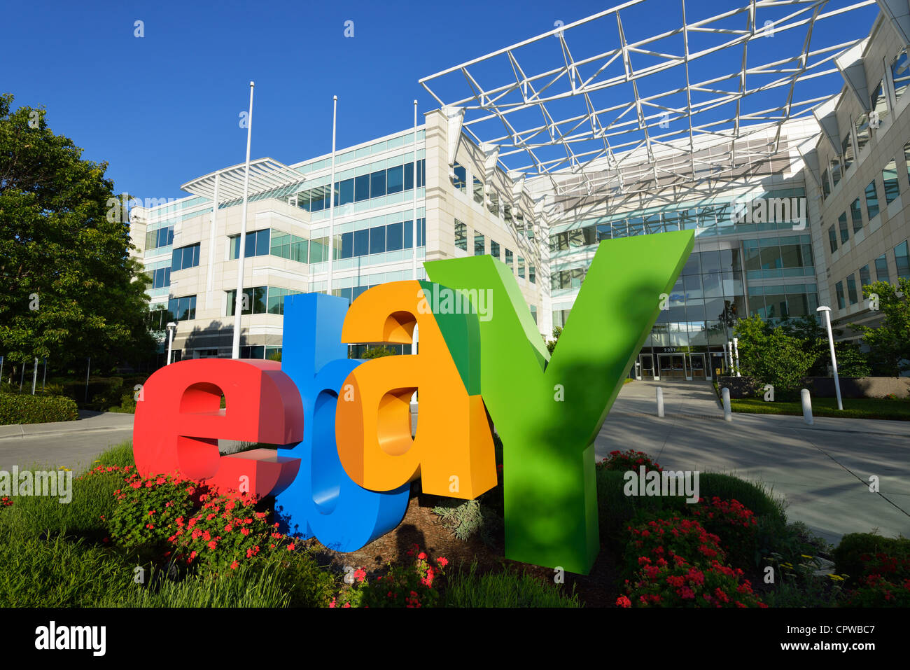 Headquarters of ebay and Paypal Incorporated, San Jose CA - Stock Image