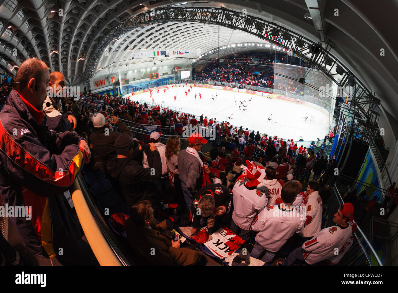 General View Of The Torino Esposizioni Ahead 2006 Winter Olympics Quarterfinal Ice Hockey Game Between Russia And Canada
