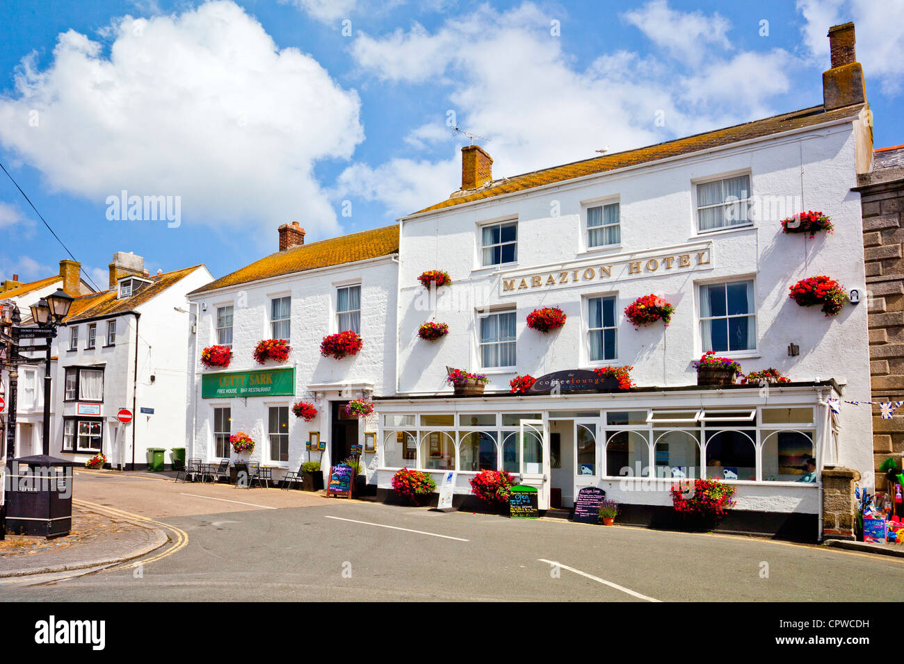 Accommodation Bed Breakfast Cornwall Stock Photos
