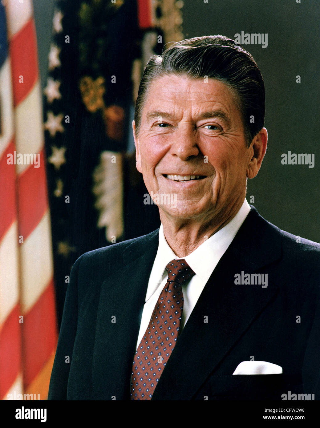 Ronald Reagan, 40th President of the United States Ronald Reagan - Stock Image