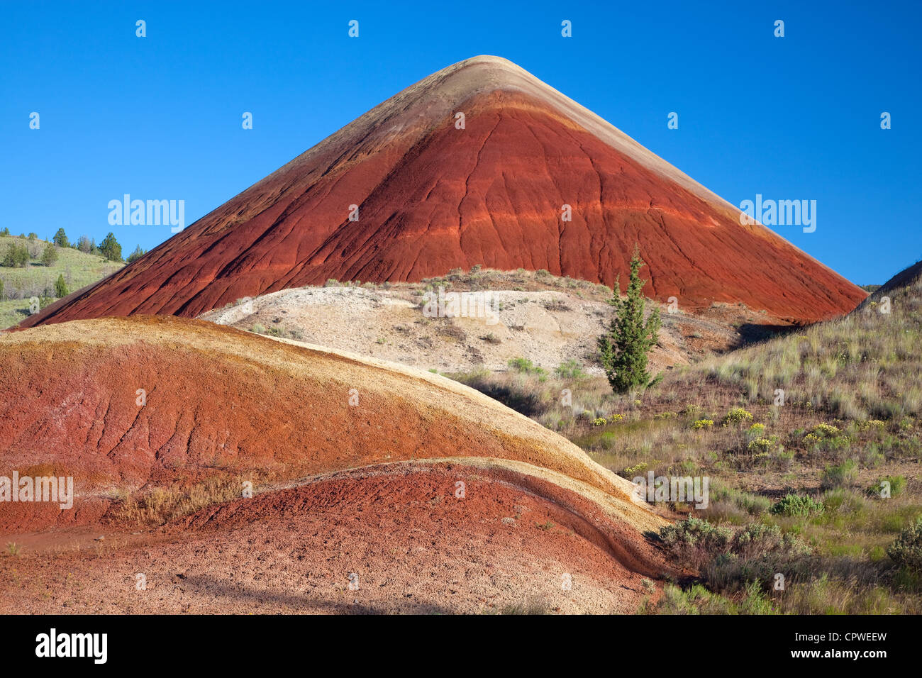 John Day Fossil Beds National Monument, OR Red Hill in the Painted Hills unit - Stock Image