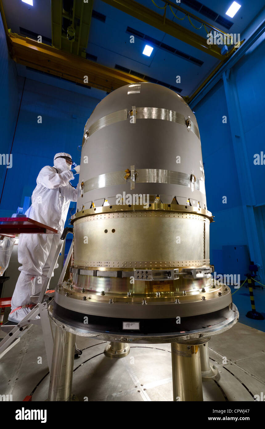 MAVEN propulsion tank prior to installation into MAVEN spacecraft core, at Lockheed Martin Space Systems in Denver. - Stock Image