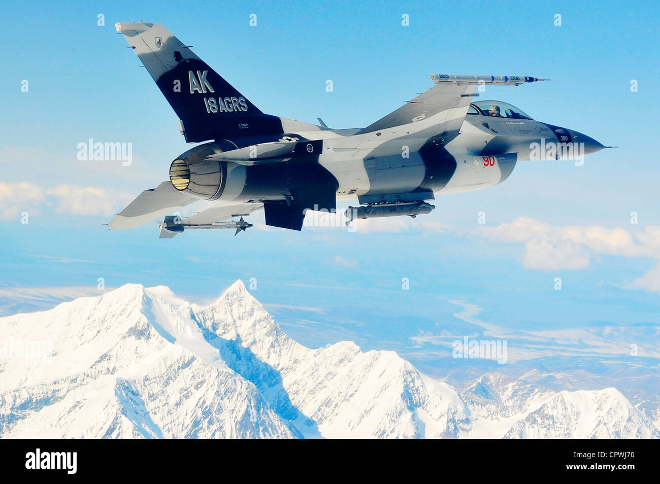F-16 fighting falcon - Stock Image