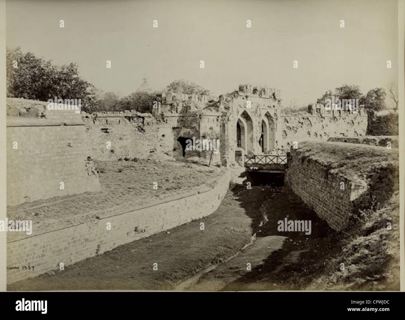 Kashmir Gate - Delhi 1860's - Stock Image