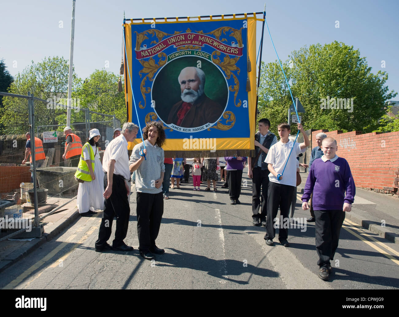 March commemorating the Felling mine disaster of 1812. - Stock Image