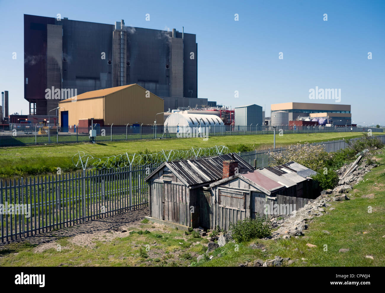 Old fishermans' hut at the Nuclear power station, Hartlepool. - Stock Image