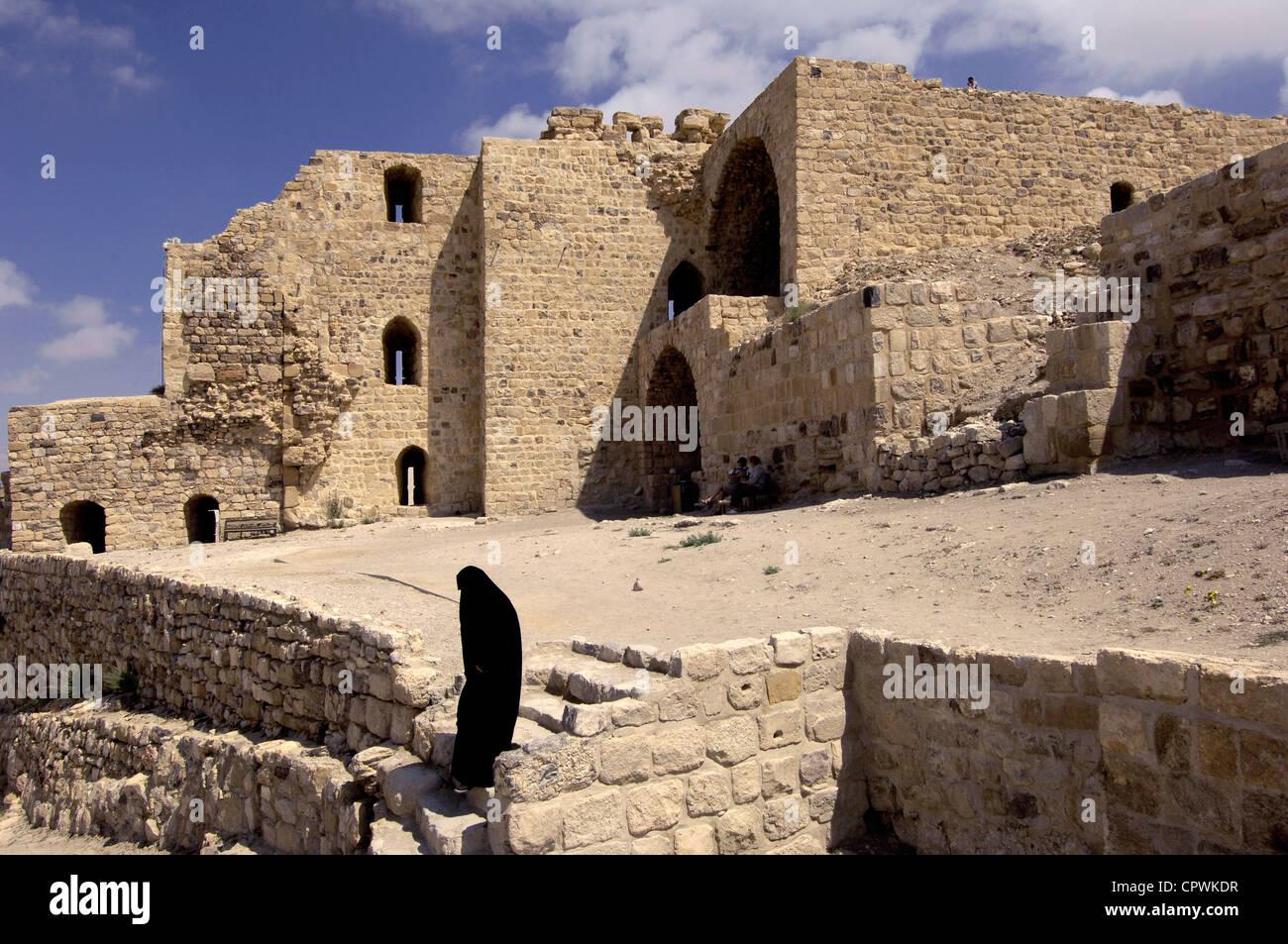 Asia Jordan Castle of Kerak Crusader Fortress of 12 th century - Stock Image