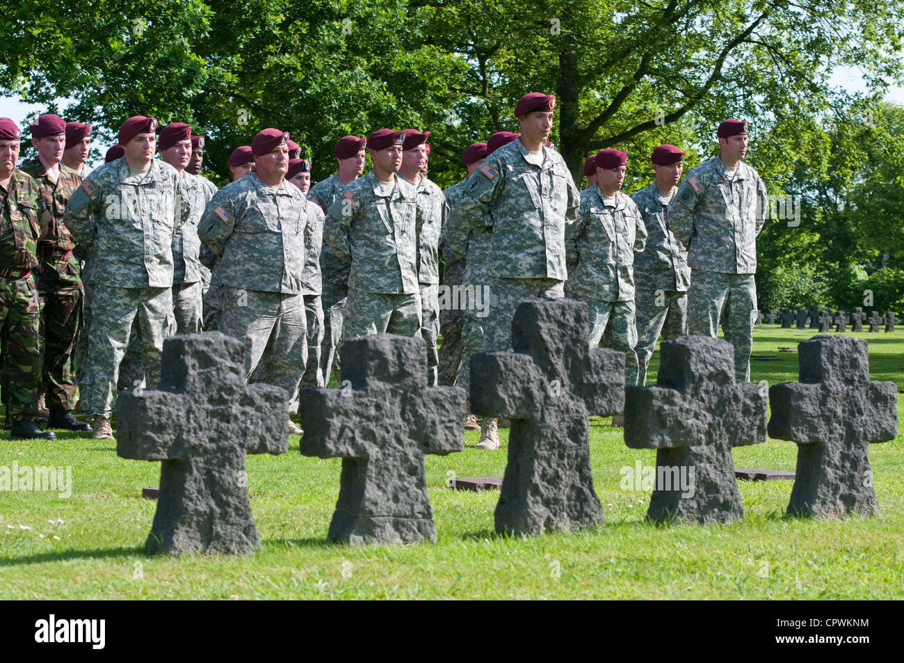 Task Force 68, which is made up of paratroopers from across the U.S. Army, Air Force and The Parachute Regiment's - Stock Image