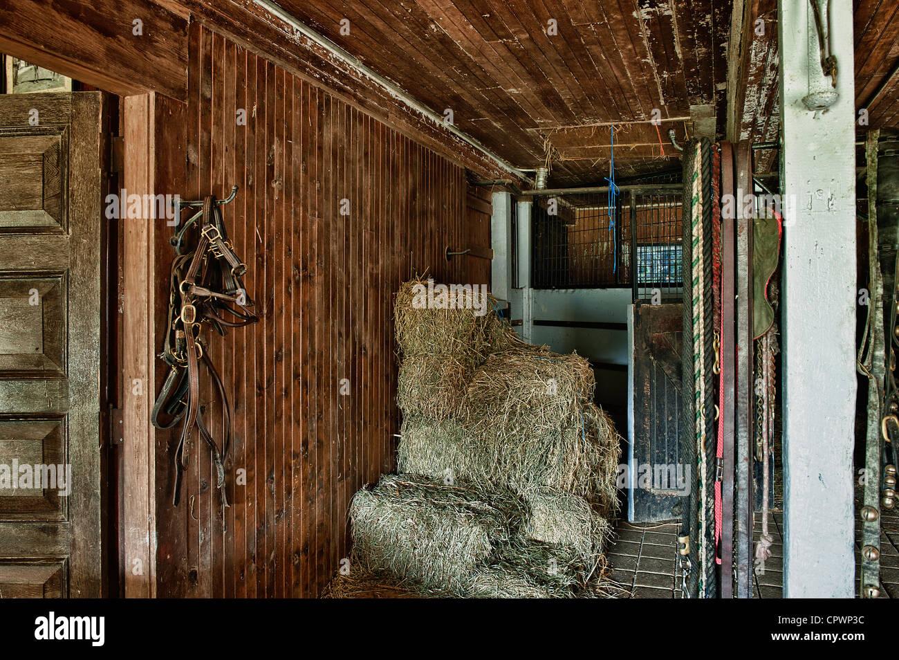 Rustic Stable Interior Stock Photo Alamy