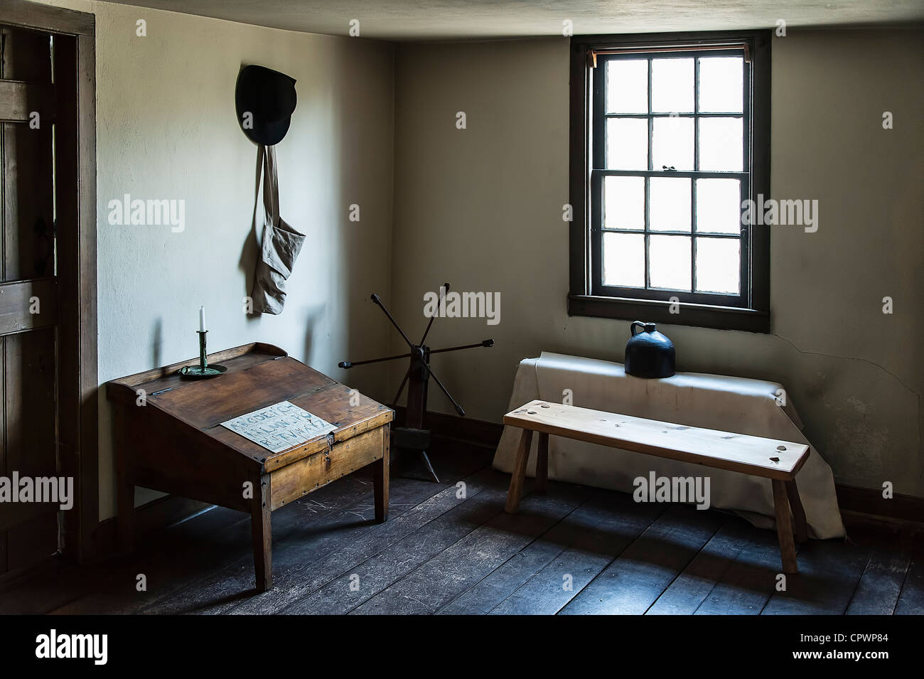 Historic American colonial house of Johnson Ferry house Stock Photo