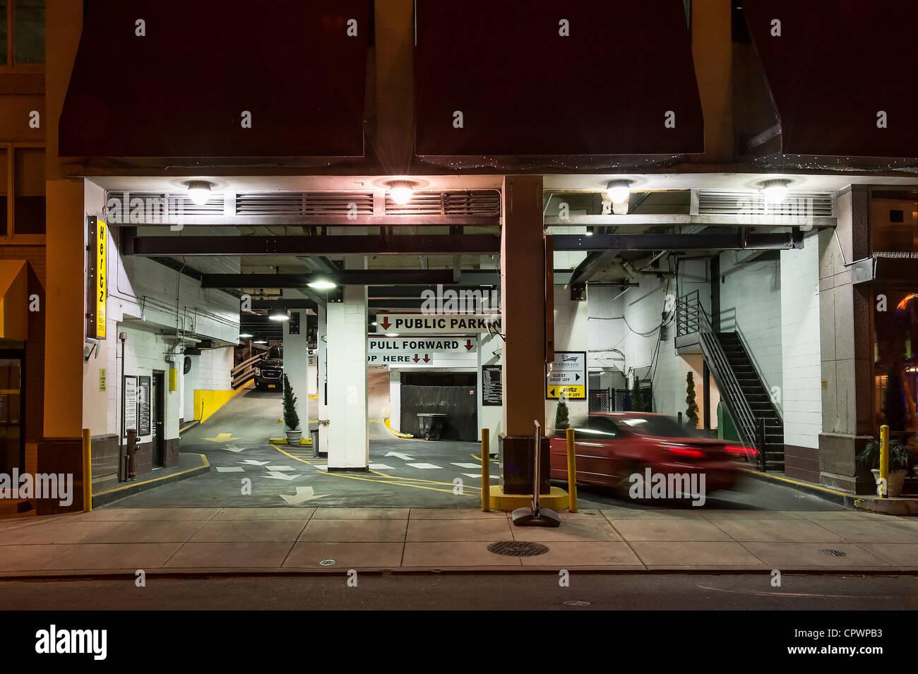 Urban parking garage. - Stock Image