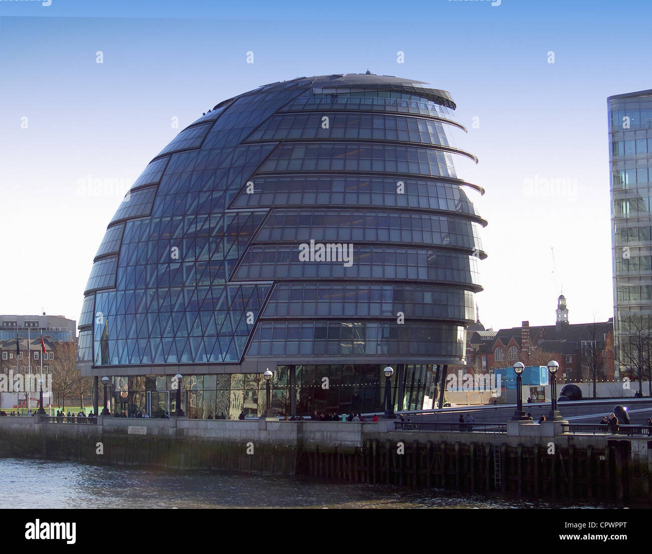 City Hall , the meeting place for the Greater London Assembly between London  and Tower Bridges, on the south bank - Stock Image