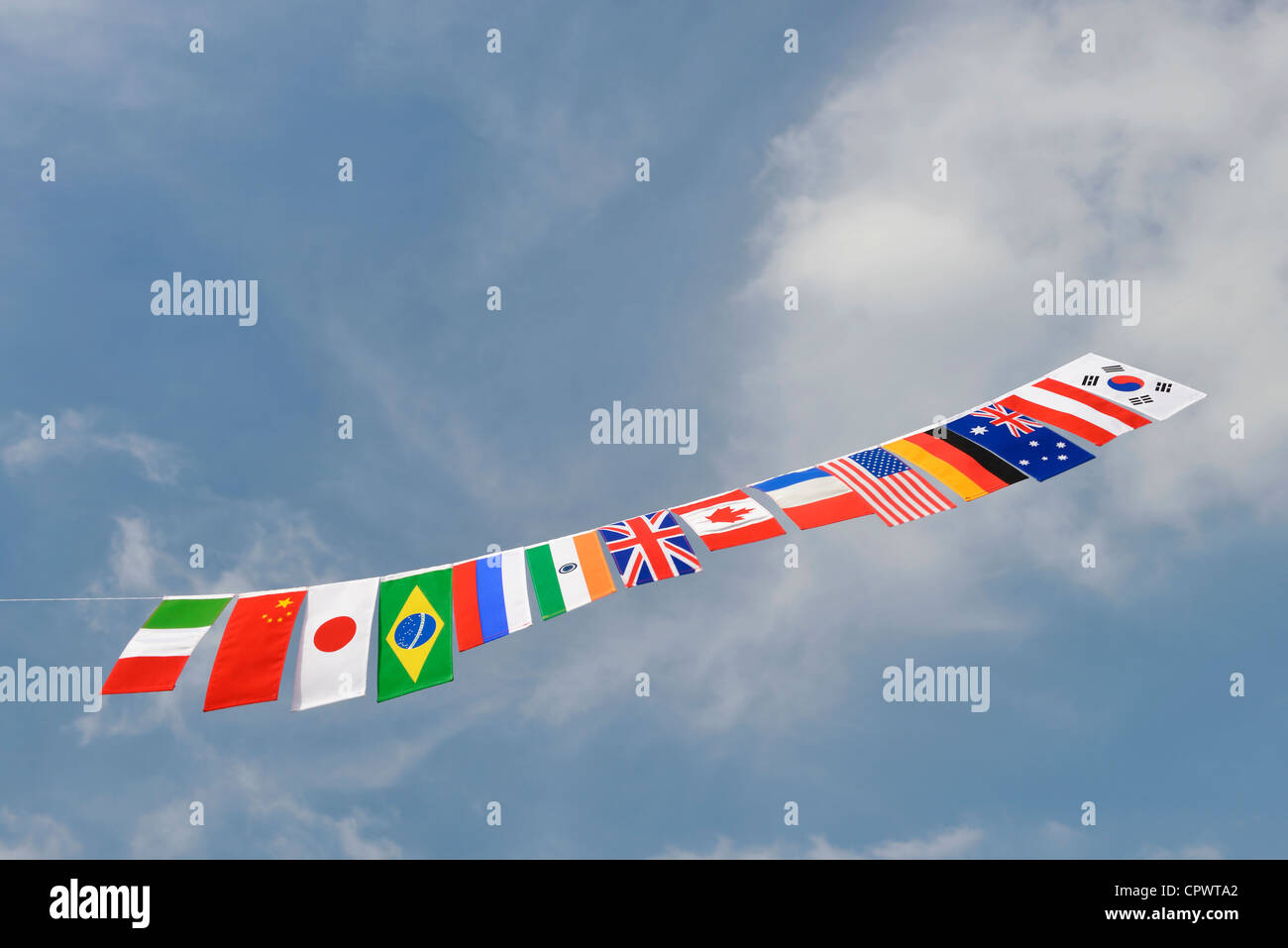 Flags of Nations - Stock Image