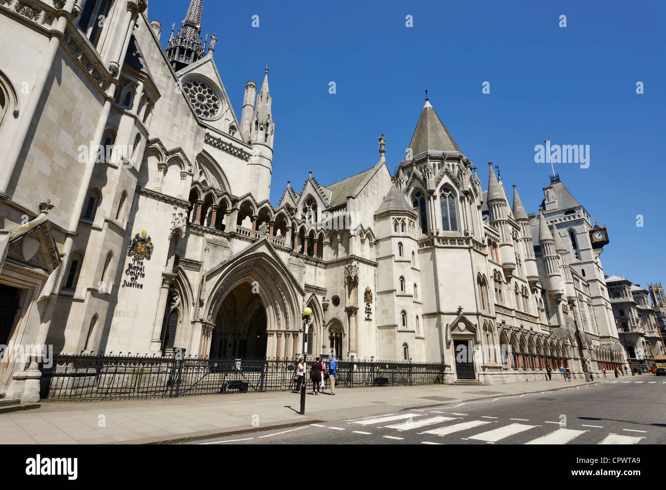 The Royal Courts of Justice in Central London Stock Photo