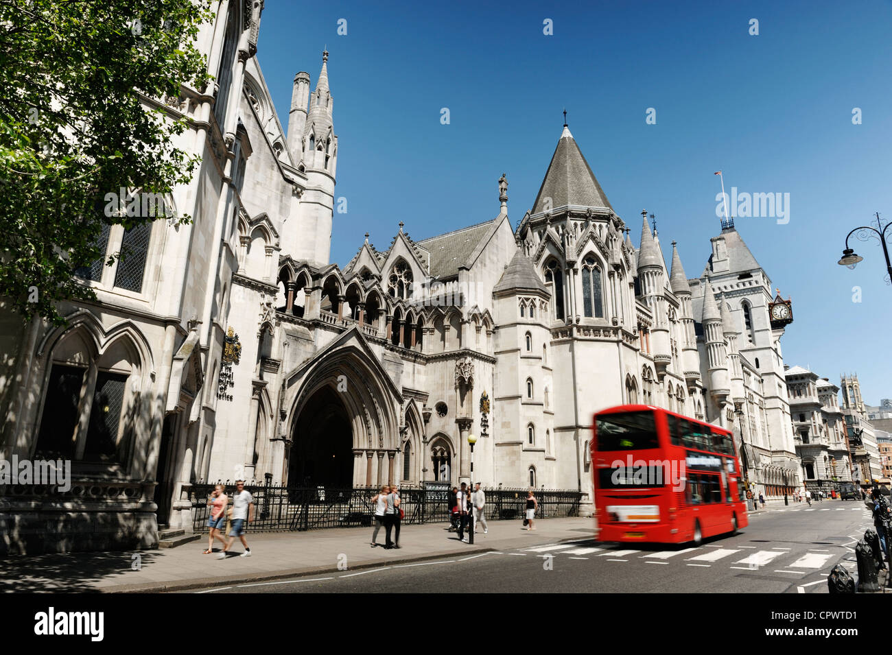 The Royal Courts of Justice in Central London - Stock Image