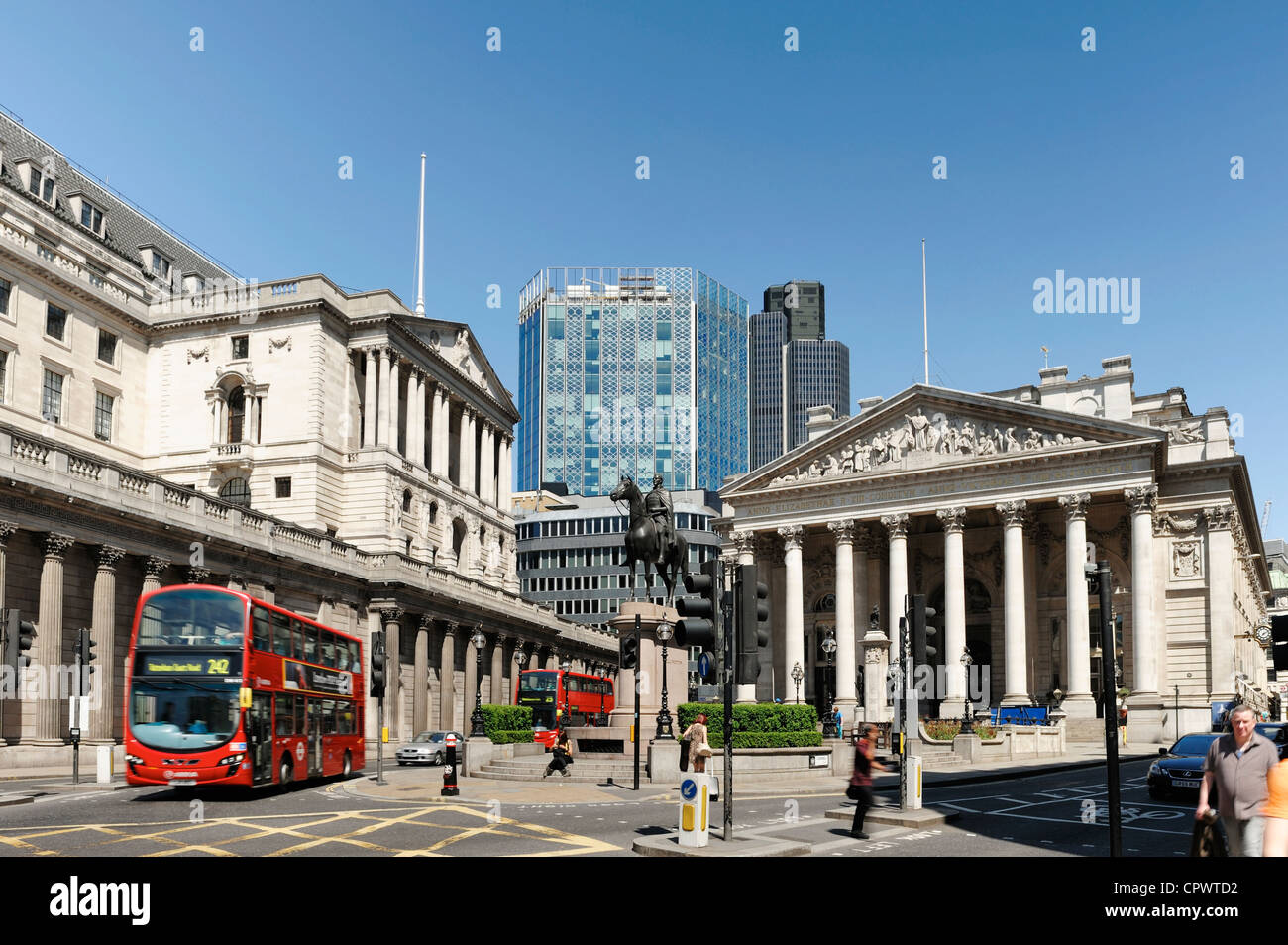 The Bank of England in The CIty of London - Stock Image