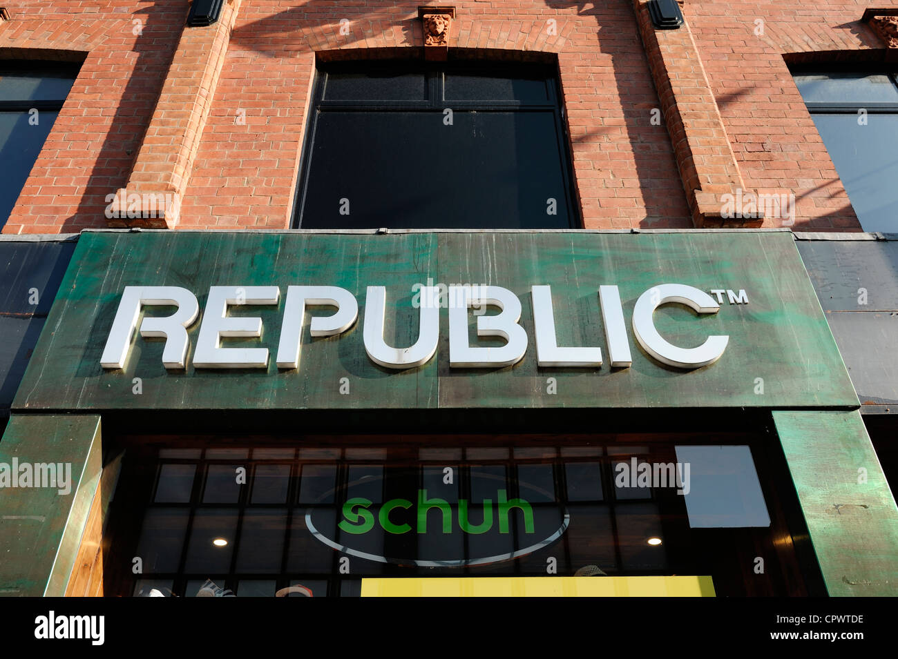 Republic shop front sign - Stock Image