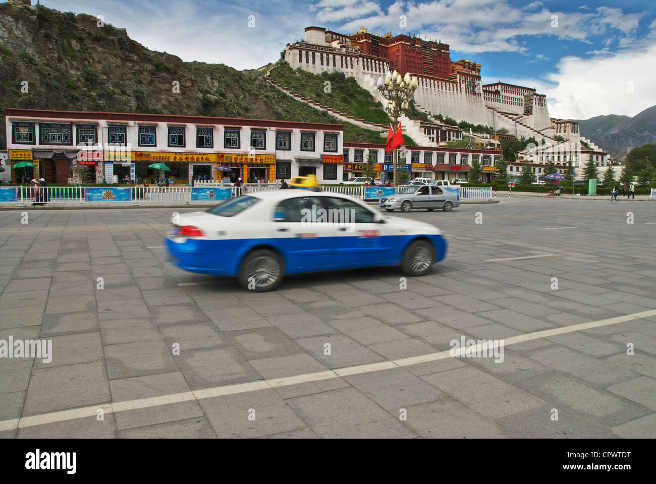 Potala and Taxi - Stock Image