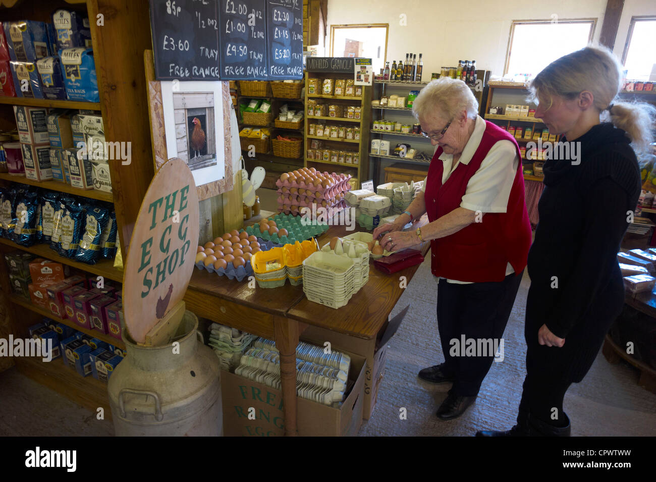 Ullercombe Farm Shop and Cafe Near Bovey Tracey Devon England - Stock Image