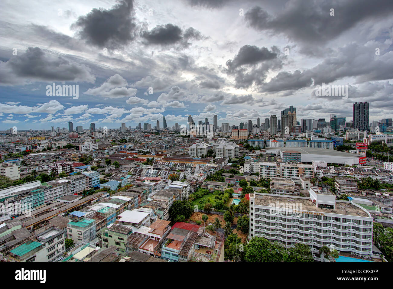 Cloudy Day, Urban Sprawl | Bangkok - Stock Image