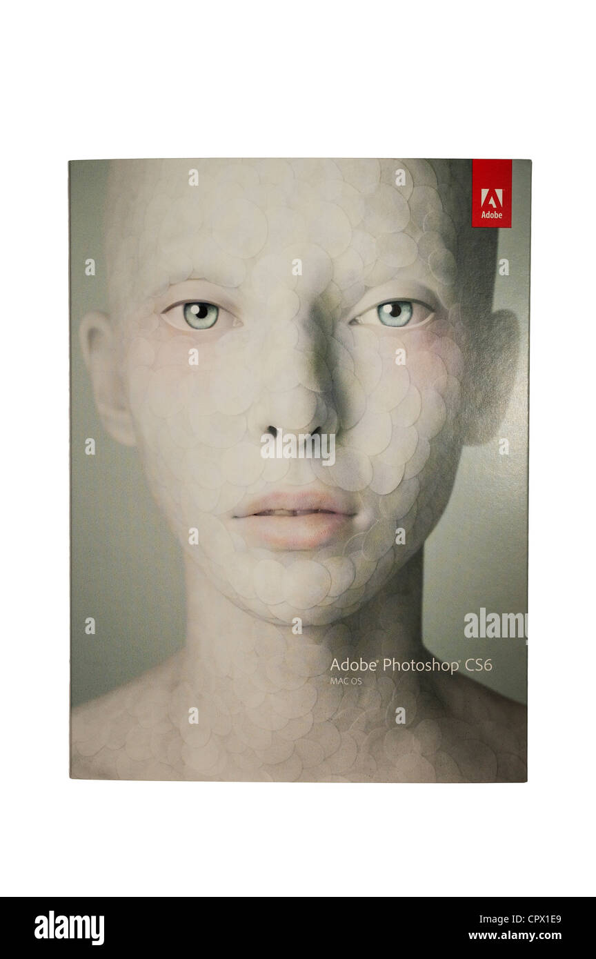 Adobe Photoshop CS6 computer software for photography on a white background - Stock Image