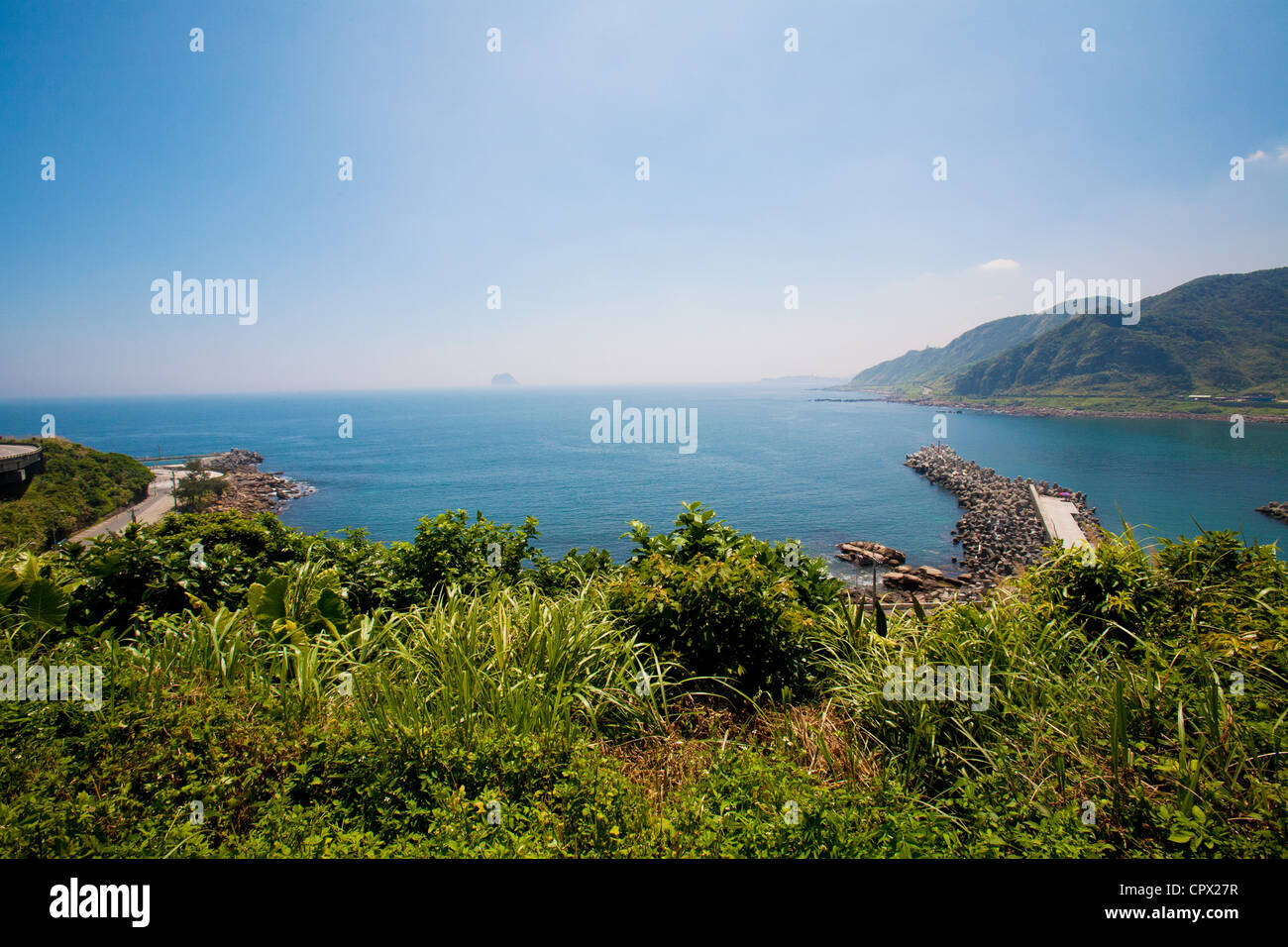 Beach at Yehliu Geopark, Wanli, Taiwan - Stock Image